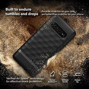 Caseology Parallax for Galaxy S10 Plus Case (2019) - Award Winning Design - Black