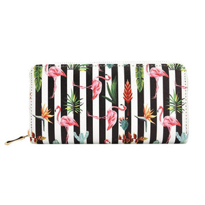 Kukoo Women's Printed Zip Around Wallet Phone Clutch Purse Card Holder Organizer
