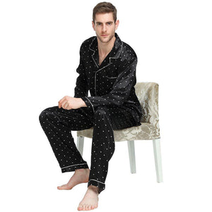 Mens Silk Satin Pajamas Set Sleepwear Loungewear S~4XL Plus