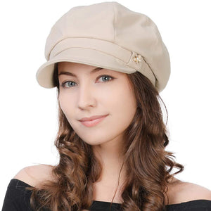 Womens Visor Beret Newsboy Cap Paperboy Cabbie Painter Panel Hat Winter 55-60cm