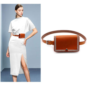 VITORIA'S GIFT Women Vintage Fashion luxurious cowhide Fanny Pack Removable Waist Bag Belt Phone Pouch Handbag Christmas Gift