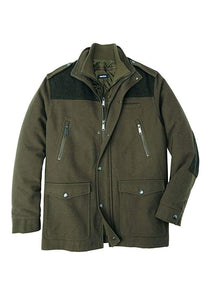KingSize Men's Big & Tall Wool Combat Jacket