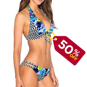 ZD Z-DEAR THE BEST LOVE Women's Sexy Low Waist Bandage Bikini Beachwear Swimsuit
