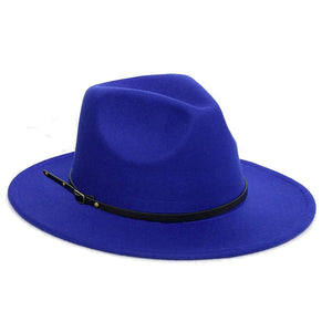 EFORLED Womens Fedora Panama Hats,Wide Brim w/Belt Buckle