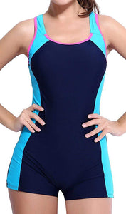 beautyin Women's One Piece Swimsuits Boyleg Sports Swimwear