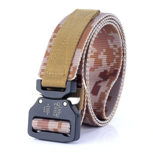 ITIEZY Men's Tactical Belt Heavy Duty Webbing Belt Adjustable Military Style Nylon Belts with Metal Buckle