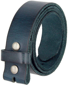 "BS-40 100% Full Grain Leather with Snaps Belt Strap 1 1/2"" wide"