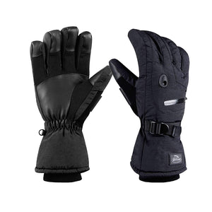 HighLoong Men's Waterproof Ski Snowboard Gloves Warm Thinsulate Lined Cold Winter Skiing Snowboarding Glove