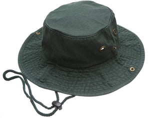 MIRMARU Summer Outdoor Boonie Hunting Fishing Safari Bucket Sun Hat Adjustable Strap