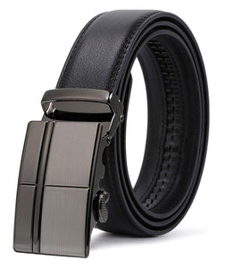 ITIEZY Ratchet Automatic Buckle (Sliding Buckle) Leather Belt Strap For Men