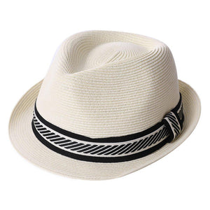 Packable Straw Fedora Panama Sun Summer Beach Hat Cuban Trilby Men Women 55-61cm