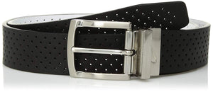 Men's Perforated Reversible Leather Belt