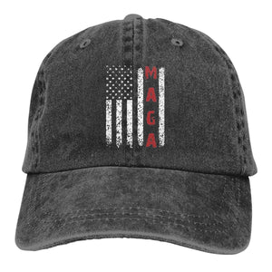 Unisex Make America Great Again MAGA Vintage Adjustable Baseball Cap Denim Dad Hat