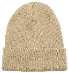 Top Level Beanie Men Women - Unisex Cuffed Plain Skull Knit Hat Cap