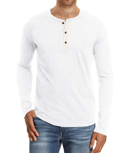 NITAGUT Mens Fashion Casual Front Placket Basic Long/Short Sleeve Henley T-Shirts