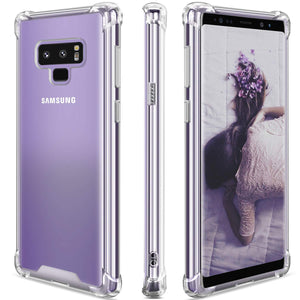 Samsung Galaxy Note 9 Case,Clear Note 9 Case Shockproof TPU Bumper Cases Non Slip Scratch Resistant PC Hard Back Protective Case Cover for Galaxy Note 9 -Purple Blue