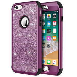 "iPhone 6s Case, iPhone 6 Case, Hython Heavy Duty Full-body Defender Protective Case Bling Glitter Sparkle Hard Shell Armor Hybrid Shockproof Rubber Bumper Cover for iPhone 6/iPhone 6s 4.7"" - Rose Gold"