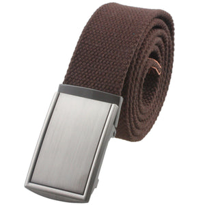 moonsix Canvas Web Belts for Men,Solid Color Casual Military Style Belt