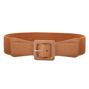 Hanna Nikole Women's Belts Solid Color Wide Elastic Stretchy Retro Cinch Belt Waistband