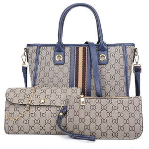 Waterproof Leather Handbags Set for Women Fashion Purse Shouler Totes Bags