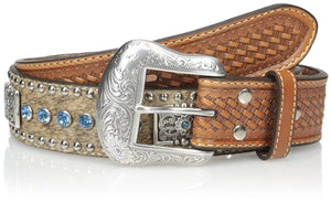 Nocona Men's Blue Bar Bling Belt