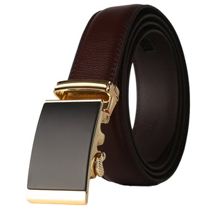 Men/'s Leather Ratchet Dress Belt with Automatic Buckle in Gift Box by