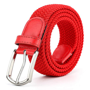 Braided Canvas Woven Elastic Stretch Belts for Men/Women/Junior with Multicolored