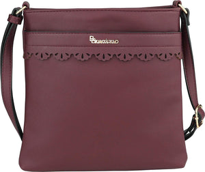 B BRENTANO Vegan Medium Crossbody Handbag Purse
