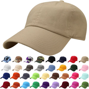 Falari Classic Baseball Cap Dad Hat 100% Cotton Soft Adjustable Size