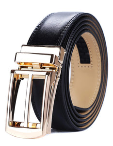 Tonywell Mens Leather Ratchet Belts with New Style Open Buckle Perfect Fit Dress Belt 30mm Wide