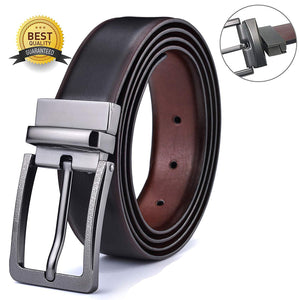 Men's Belt, Xgeek Ratchet Belt of Genuine Leather 1 3/8 Belt for Men