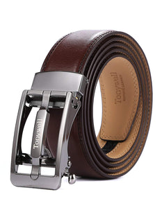 Tonywell Mens Leather Ratchet Belts with Convertible Buckle Dress Belt 35mm Wide