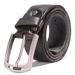 Men's 100% Italian Cow Leather Belt Men With Anti-Scratch Buckle,Packed in a Box