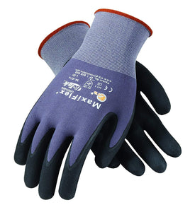 ATG 34-874/XL MaxiFlex Ultimate - Nylon, Micro-Foam Nitrile Grip Gloves - Black/Gray - X-Large - 12 Pair Per Pack