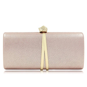 Women Clutches Solid Evening Bag Sparkling Metallic Clutch Purses For Wedding And Party