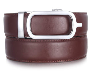 Marino Ratchet Click Belts for Men - Mens Comfort Genuine Leather Dress Belt - Automatic Buckle