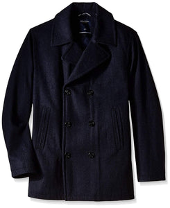Nautica Men's Big & Tall Wool-Blend Peacoat