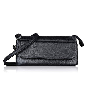 Befen Leather Wristlet Clutch Smartphone Crossbody Wallet with Card Slots/Shoulder Strap/Wrist Strap