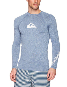 Quiksilver All Time Long Sleeve Rashguard Swim Shirt UPF 50+