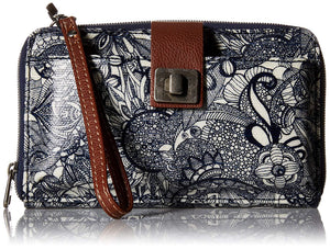 Sakroots Artist Circle Large Smartphone Cross-Body Phone Wallet