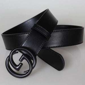 Belt Men's Leather Belt GG Smooth Buckle Belt New