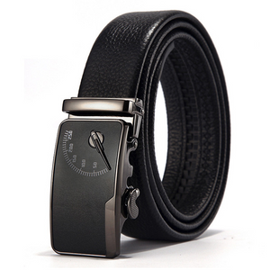 Men's Leather Belt Double-sided Leather Automatic Buckle Business Belt