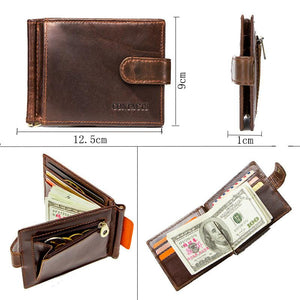 Leather Card Holder Clip Fashion Leather Clip