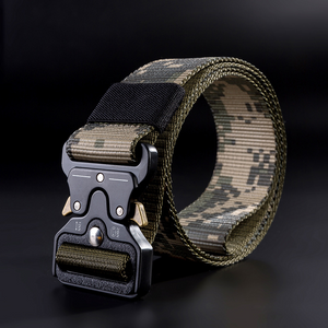 Fashion 3.8cm Belt Men's Cobra Buckle Outdoor Sports Nylon Braided Belt
