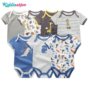 Uniesx Newborn Baby Rompers Clothing 7Pcs/Lot Infant Jumpsuits 100%Cotton Children Roupa De Bebe Girls&Boys Baby Clothes