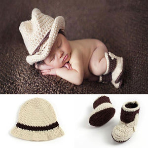 Newborn Baby Photography Props girl Boy Animal Pants Knit Hat Set Cute Baby Hand Made Crochet Costume Photo Shoot Clothes