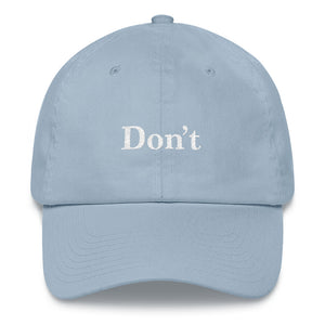 Don't Twill Cap - Light Blue