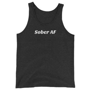 Sober AF Tank - Heather Black