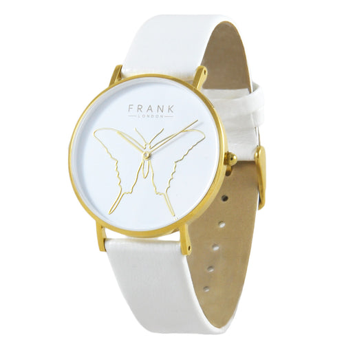 Frank - Butterfly White - Yellow Gold