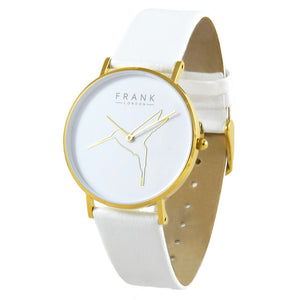 Frank - Humming Bird White - Yellow Gold